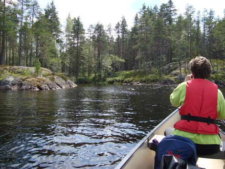 Canoe trip on the svartälven in Sweden