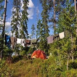 wild camping in the great outdoors